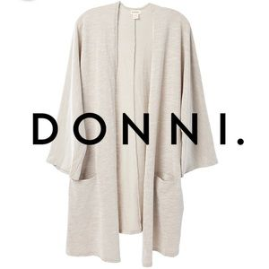 DONNI. Sandwash Ribbed Sweater Duster Cardigan
